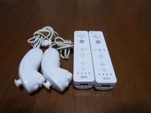 RN005【送料無料 動作確認済】Wii リモコン ヌンチャク 2個セット ホワイト 白