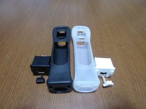 M099【送料無料 動作確認済】Wii モーションプラス ジャケット 2個 セット(分解 クリーニング済)白 黒 NINTENDO 任天堂 純正