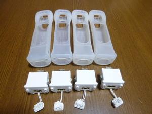 M055【送料無料】Wii モーションプラス ジャケット 4個セット(動作確認済)リモコンカバー きれいです