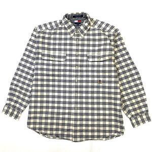 旧タグ TOMMY HILFIGER トミーヒルフィガー チェック柄 長袖シャツ ボタンダウンシャツ B.Dシャツ メンズXL