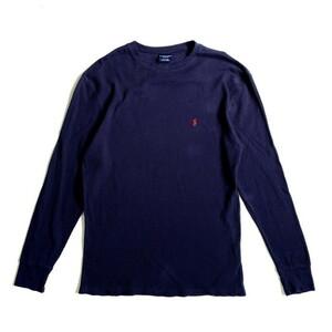 POLO RALPH LAUREN ラルフローレン ワンポイントロゴ サーマルロングTシャツ メンズXL相当