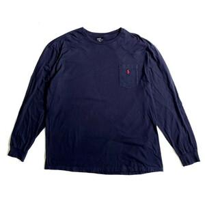 ビッグサイズ Polo by Ralph Lauren ポロバイラルフローレン ポケット ワンポイントロゴ ロングTシャツ ロンT メンズXL