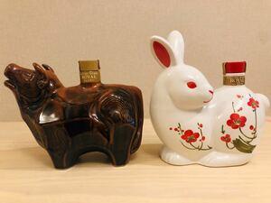 SUNTORY ROYAL 古酒 干支ボトル丑と卯 WHISKY サントリーウイスキーローヤル 2本セット