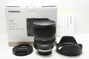 【アルプスカメラ】美品 TAMRON タムロン SP 24-70mm F2.8 Di VC USD G2 A032 Nikon ニコン用 Fマウント ズームレンズ 元箱付 210913s