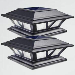 新品 未使用 ソ-ラ-ライト Siedinlar V-JT 塀 2個セット 屋外 門柱灯 ソ-ラ- 門灯 防水 LED 2色ランプ 明暗センサ- 自動点灯 常夜灯