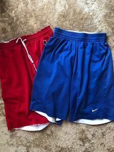 ナイキ ハーフパンツ スポーツ トレーニング バスケットボール 半ズボン 青(リバーシブル白)、赤(リバーシブル白)