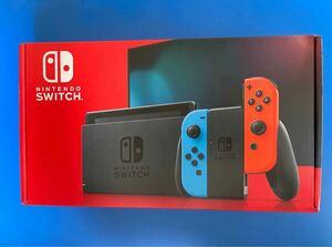 【新品未開封】【即納】Nintendo Switch ネオンブルー・ネオンレッド 店舗印無し