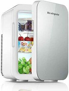冷温庫 ミニ冷蔵庫 小型冷蔵庫 8L 保冷 1ドア 2システム 温度調節?家庭 車載両用 保温 ポータブル コンパクト