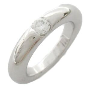 [即決] カルティエ エリプス1Pダイヤモンドリング リング・指輪 AランクK18(750)ホワイトゴールド 美品