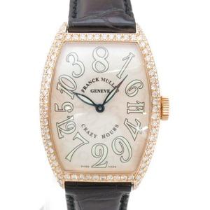[即決] フランクミュラー クレイジーアワーズ ダイヤモンドベゼル 腕時計 腕時計 AランクK18(750)ピンクゴールド ダイヤモンド クロコ