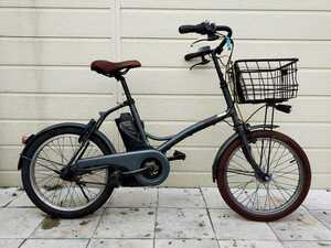 パナソニック Panasonic 電動アシスト自転車 20インチ ENGL03 2014年 内装3段変速 5.0Ahバッテリー・充電器 整備済み自転車! 091604