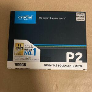 Crucial 内蔵SSD M.2 2280 NVMe PCI-E Gen.3 1x4 P2シリーズ 1TB CT1000P2SSD8JP 新品未開封