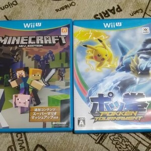 WiiU マインクラフト ポッ拳 ソフト 2枚セット