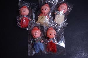 昭和 レトロ 小さい 女の子 ソフビ 人形 5点 倉庫品 ドール お人形 日本製