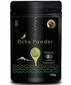 100グラム (x 1) 殿の朝 粉末 緑茶 パウダー お茶 国産 オーガニック 有機栽培 JAS認定 (100g)