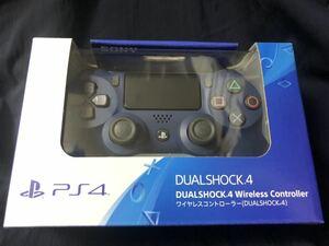 ★新品★ 未開封★ PS4 PlayStation4 DUALSHOCK4 デュアルショック4 ワイヤレスコントローラー 純正 ミッドナイトブルー