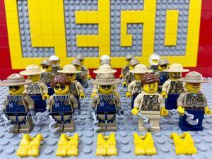☆ポリス☆ レゴ ミニフィグ 大量20体 警官 警察官 機動隊 保安官 防弾チョッキ ( LEGO 人形 シティ 警察署