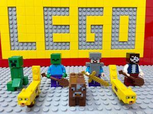 ☆マインクラフト☆ レゴ ミニフィグ スティーブ 動物 スキン クリーパー ゾンビ ( LEGO 人形 マイクラ