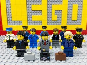 ☆スーツ姿☆ レゴ ミニフィグ 大量10体 サラリーマン ビジネスマン 会社員 ( LEGO 人形 住民 シティ