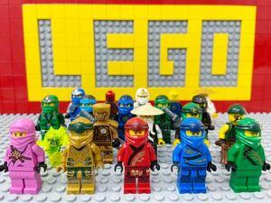 ☆ニンジャゴー☆ レゴ ミニフィグ 大量20体 ゴールデンニンジャ ロイド カイ ジェイ ゼン コール ウー先生 など ( LEGO 人形