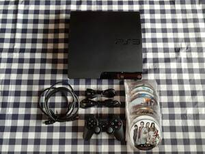 PS3送料無料☆CECH-2500A(ver.4.55)本体一式+ディスクセット 動作品