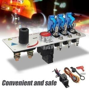 12V 高品質 トグル点火スイッチ オート LED Led トグルイグニッションスイッチプッシュセットレーシングカー用 h 30A