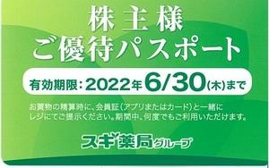 甲南☆スギホールディングス☆スギ薬局グループ☆株主様ご優待パスポート☆2022.6.30【管理3824】
