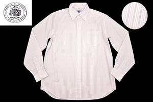 Y-2623★送料無料★新品★J.PRESS J.プレス★日本製 ホワイト白色 ストライプ 長袖 ボタンダウンシャツ 150cm