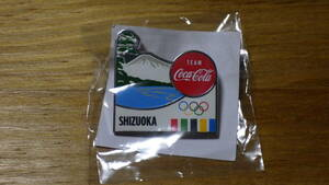コカ・コーラ ピンバッジ オリンピック 静岡 SHIZUOKA【新品未使用】
