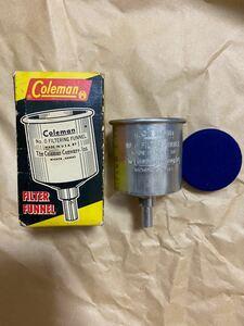 Coleman funnel ビンテージ品 アメリカ製 貴重コレクション アルミ 金属仕様 燃料じょうご ファンネル