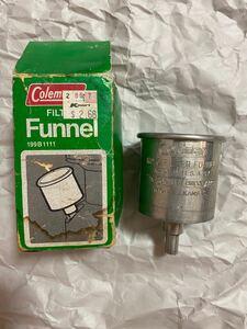 Coleman funnel ビンテージ品 アメリカ製アルミ 金属仕様コールマン 燃料じょうご
