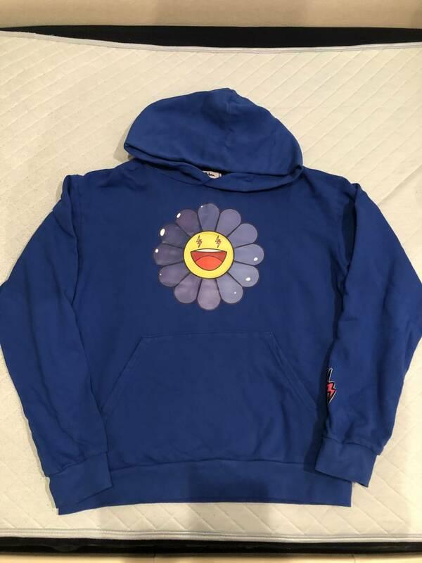國內正規品 J Balvin Takashi Murakami 村上隆 パーカー フーディー XL ブルー 青 リステア購入 kaikaikiki バルヴィン Jbalvin