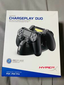 PS4 ワイヤレスコントローラー 充電スタンド hyperx chargeplay duo hxcpdu-a 未開封 新品