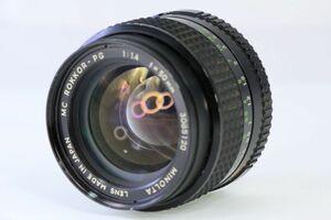 実用★ミノルタ MINOLTA MC ROKKOR-PG 50mm F1.4★うすくもり★2440