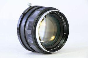 実用★ミノルタ MINOLTA AURO ROKKOR-PF 58mm F1.4★絞り完動・薄クモリ★9321