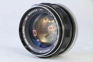 実用★ミノルタ MINOLTA MC ROKKOR-PF 58mm F1.4★うすくもり★AO425