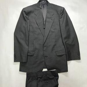 新品 B品 激安 2つボタンスーツ ウール100% モヘア入り セットアップ サイズL グレイ千鳥格子 ノーベンツ 2タック