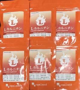 【送料無料】L-カルニチン 約6ヶ月分 (1ヶ月分90粒入×6袋) 6ヵ月分 アミノ酸 ダイエットサポート サプリメント オーガランド