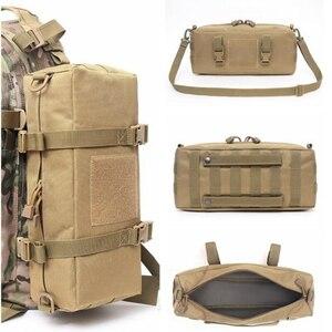 新品 ◆特価屋外軍事戦術バッグアクセサリースポーツウエストショルダーバッグ 600D ナイロンモールシステムキャンプOK72