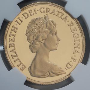 1982年 英国 イギリス エリザベス2世 2ポンド 金貨 NGC PF70 ULTRA CAMEO 金貨 PF70 最高鑑定 GOLD 2ソブリン 【St George dragon】