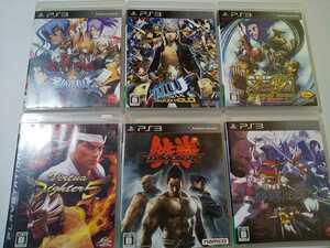 PS3 人気格闘ゲーム ソフト 6本セット 鉄拳 アンダーナイトインヴァース バーチャファイター ペルソナ ブレイブルー ストリートファイター