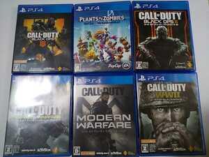 PS4 人気 ソフト 6本セット コールオブデューティ プラントバーサスゾンビ モダンウォーフェア ブラックオプス インフィニット ww2