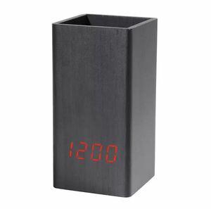 全3種類 要1種類選択 LED 木製目覚まし時計 置き時計 デジタル置き時計 木目調 温度湿度計 多機能 デジタル USB インテリア 時計 945