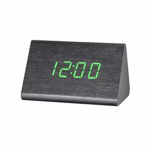 全4種類 要1種類選択 LED 木製目覚まし時計 置き時計 デジタル置き時計 木目調 温度湿度計 多機能 デジタル USB インテリア 時計 948