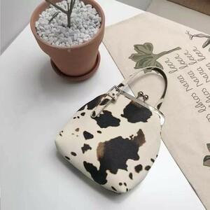 新品 ショルダーバッグ 牛柄 がま口 ハンドバッグ ハラコ アニマル レディース スマホ