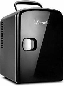 新品03ブラック AstroAI 冷蔵庫 小型 ミニ冷蔵庫 小型冷蔵庫 保温 冷温庫 4L 無負荷2-60°VJRM