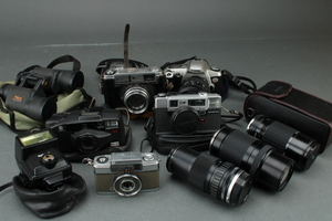 100円スタート カメラ レンズ 双眼鏡 いろいろ 10点セット まとめ売り パーツ取り ジャンク品 #100 ※1219