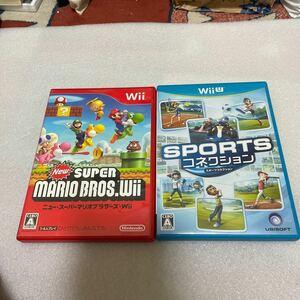 中古WiiUソフト スポーツコネクション ジャンク扱い NewスーパーマリオブラザーズWii