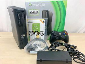 マイクロソフト Microsoft Xbox360 S 250GB 本体 ブラック ゲーム 外箱・説明書付き 通電確認済み