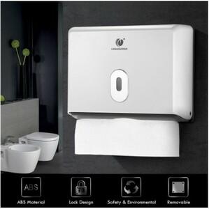 D430:壁掛け式 ペーパータオル 人気 ホルダー バスルーム ティッシュ ディスペンサー ボックス フォールド キッチン トイレット ペーパー